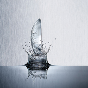 contact lens splashing into water