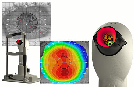 image of medmont corneal topographer and scan of the cornea