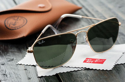 rayban sunglasses and case